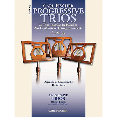 Carl Fischer Progressive Trios for Strings - Viola Book