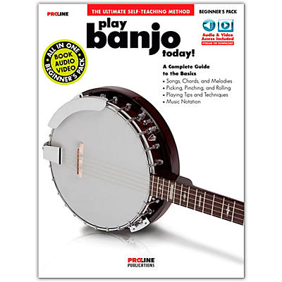 Proline Proline Play Banjo Today Beginner's Pack Book/Audio & Video Online