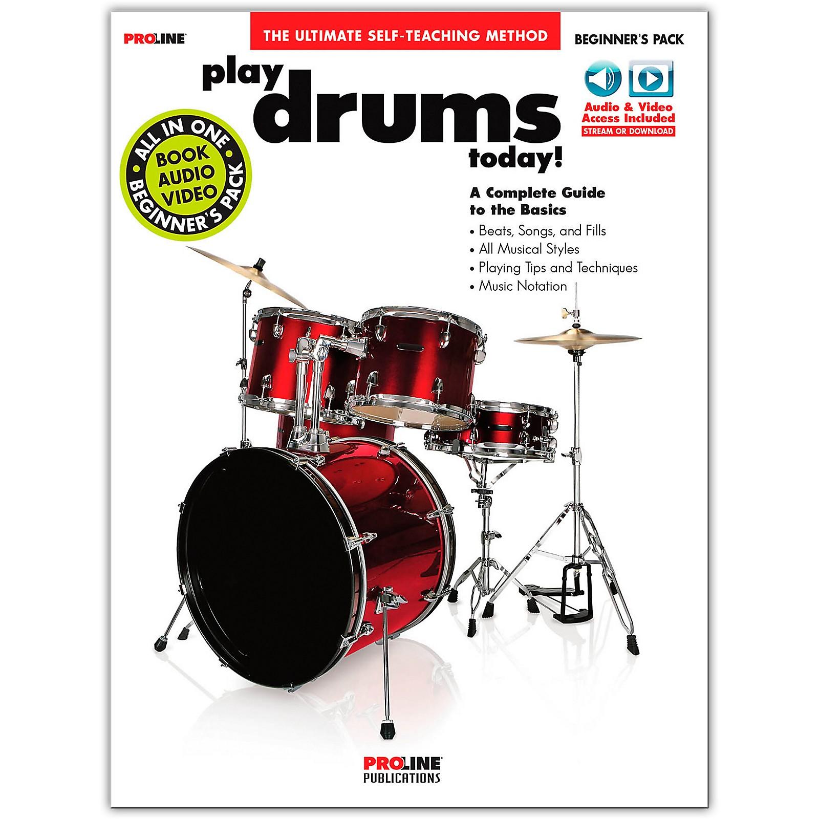 Proline Proline Play Drums Today Beginner's Pack Book/Audio & Video Online