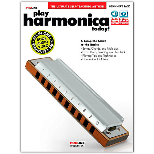 Proline Play Harmonica Today Beginner's Pack Book/Audio & Video Online