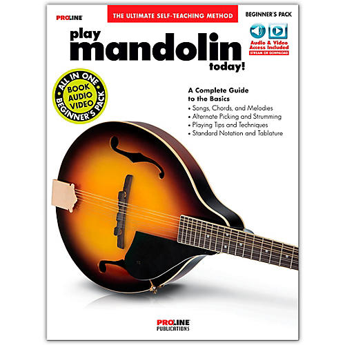 Proline Proline Play Mandolin Today Beginner's Pack Book/Audio & Video Online