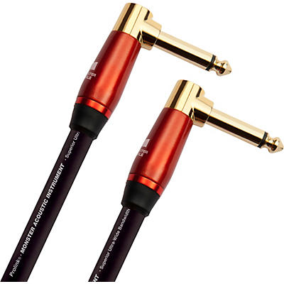 Monster Cable Prolink Acoustic Pro Audio Instrument Cable, Right Angle to Right Angle