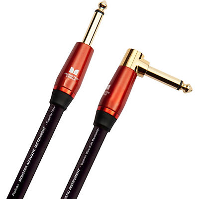 Monster Cable Prolink Acoustic Pro Audio Instrument Cable, Right Angle to Straight