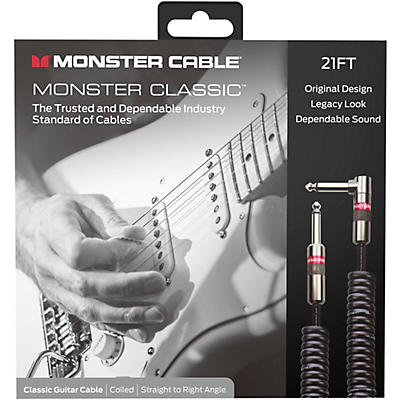 Monster Cable Prolink Monster Classic Pro Audio Instrument Cable, Coiled