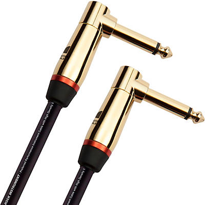 Monster Cable Prolink Rock Pro Audio Instrument Cable, Right Angle to Right Angle