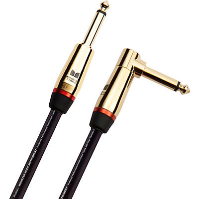 Monster Cable Prolink Rock Pro Audio Instrument Cable, Right Angle to Straight