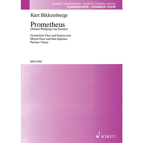 Hal Leonard Prometheus (SATB and Soprano Solo) SATB Chorus and Solo Composed by Kurt Bikkembergs