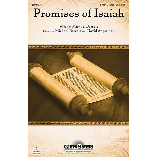 Shawnee Press Promises of Isaiah SATB WITH FLUTE (OR C-INST) composed by Michael Barrett