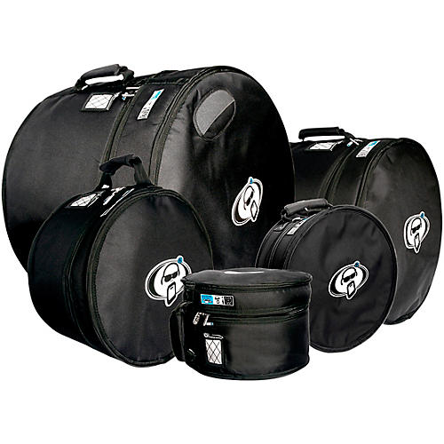 Protection Racket Protection Racket Drum Gig Bag Sets 13x9, 16x16, 18x16, 14x6.5, 24x18 in. Black
