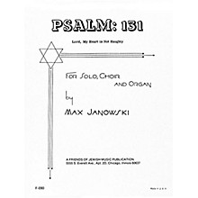 Transcontinental Music Psalm 131 (Lord, My Heart Is Not Haughty) SATB composed by Max Janowski