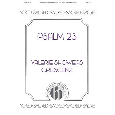 Hinshaw Music Psalm 23 SATB composed by Valerie Crescenz