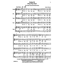Transcontinental Music Psalm 98 (Sing! Sing! Sing!) SATB composed by Jose Bowen