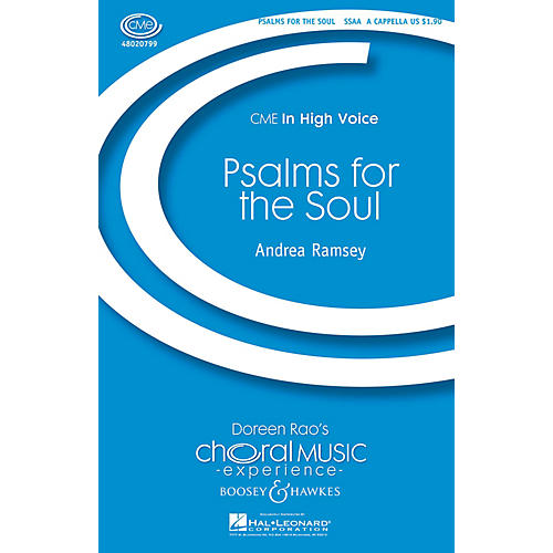 Boosey and Hawkes Psalms for the Soul (CME In High Voice) SSAA A CAPPELLA composed by Andrea Ramsey