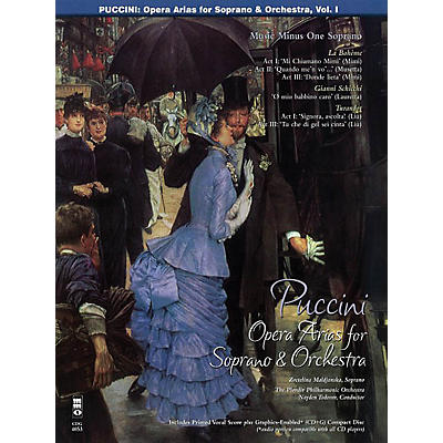 Music Minus One Puccini Arias for Soprano and Orchestra - Vol. I Music Minus One Softcover with CD by Giacomo Puccini