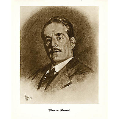 Music Sales Puccini (Lupas Small Portrait Poster) Music Sales America Series