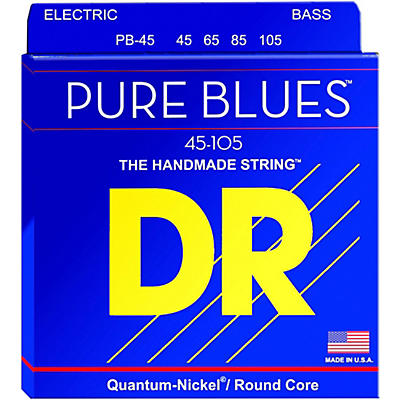 DR Strings Pure Blues Medium 4-String Bass Strings (45-105)