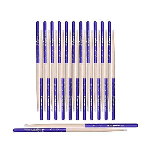 Zildjian Purple DIP Drum Sticks 12-Pack 5A Nylon