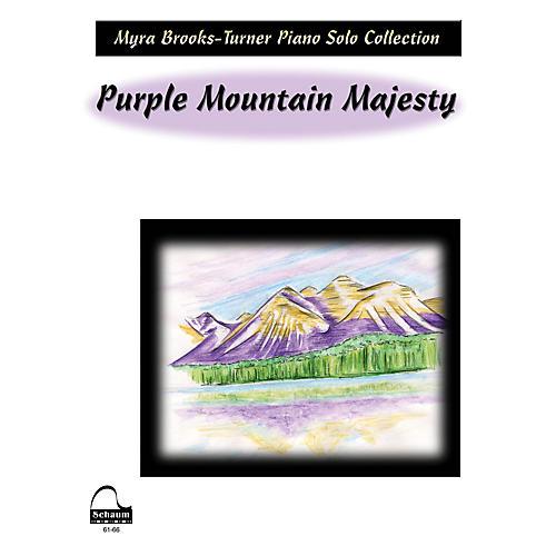 SCHAUM Purple Mountain Majesty Educational Piano Series Softcover