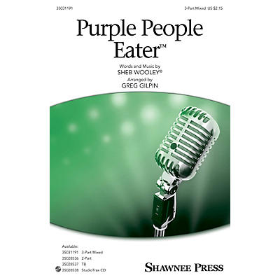 Shawnee Press Purple People Eater 3-Part Mixed arranged by Greg Gilpin