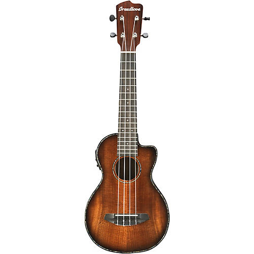 Breedlove Pursuit Concert Acoustic-Electric Ukulele Sunburst