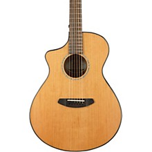 Open BoxBreedlove Pursuit Concert with Red Cedar Top Left-Handed Acoustic-Electric Guitar