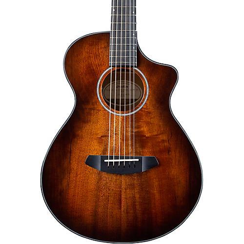 Breedlove Pursuit Exotic Companion CE Myrtlewood-Myrtlewood Travel Acoustic-Electric Guitar Bourbon Burst