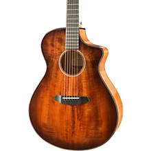 Open BoxBreedlove Pursuit Exotic Concert Bourbon CE Myrtlewood - Myrtlewood Acoustic-Electric Guitar