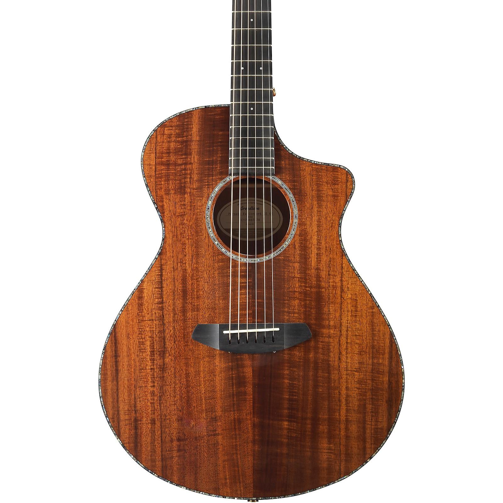 Breedlove Pursuit Exotic Concert with Koa Top Acoustic-Electric Guitar