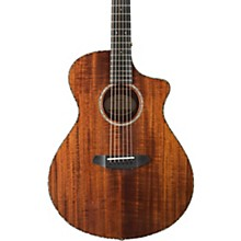 Open Box Breedlove Pursuit Exotic Concert with Koa Top Acoustic-Electric Guitar