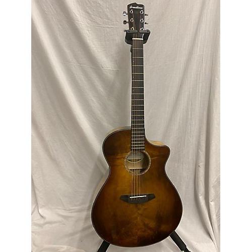 Breedlove Pursuit Exotic Concerto CE Acoustic Electric Guitar Prairie Burst Myrtlewood