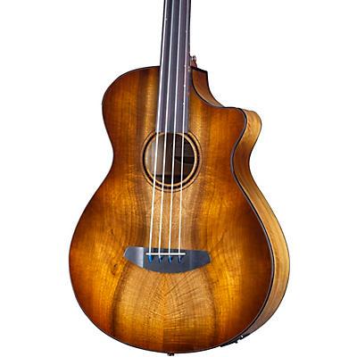 Breedlove Pursuit Exotic S CE Fretless Concerto Acoustic-Electric Bass