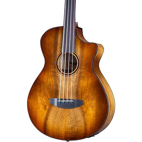 Breedlove Pursuit Exotic S CE Fretless Concerto Acoustic-Electric Bass Amber Burst