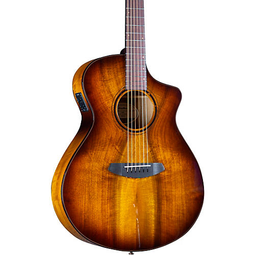 Breedlove Pursuit Exotic S CE Myrtlewood Companion Acoustic-Electric Guitar Tiger Eye