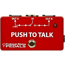 Open BoxThrone Room Pedals Push To Talk Box Latching XLR A/B Switcher