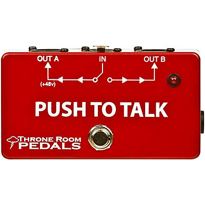Throne Room Pedals Push To Talk Box Latching XLR A/B Switcher