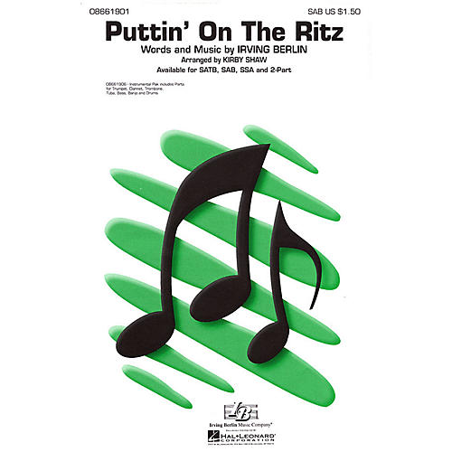Hal Leonard Puttin' On the Ritz 2-Part Arranged by Kirby Shaw