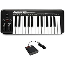 Alesis Q25 Keyboard Controller and Sustain Pedal