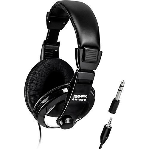 Nady QH-200 Stereo Headphones 40 mm drivers with adjustable headband Black
