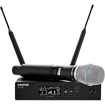 Shure QLXD24/B87A Digital Wireless Handheld Microphone System With QLXD4 Receiver