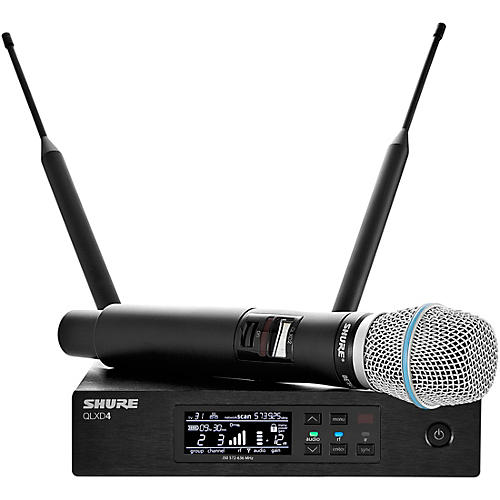 Shure QLX-D Digital Wireless System with WL183 Omnidirectional Lavalier Band J50A