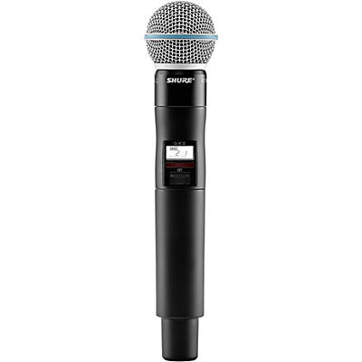 Shure QLXD2/B58=-H50 Wireless Handheld Transmitter with Beta 58A Microphone, Band H50