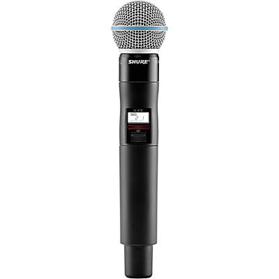 Shure QLXD2/BETA58A Wireless Handheld Microphone Transmitter With Interchangeable BETA 58A Microphone Capsule