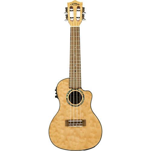 Lanikai QM-CEC Quitled Maple Concert Acoustic-Electric Ukulele Condition 1 - Mint Natural