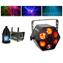 American DJ Quad Phase HP with Hurricane 700 Fog Machine and Juice