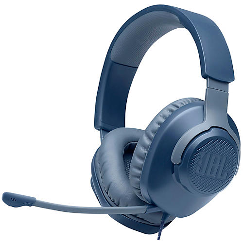 JBL Quantum 100 Gaming - Wired Over-Ear Headset Blue