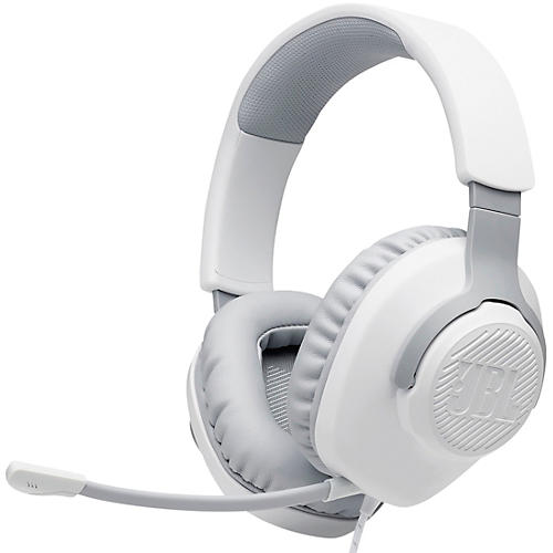 JBL Quantum 100 Gaming - Wired Over-Ear Headset White