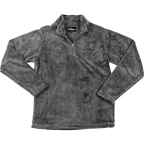 Zildjian Quarter Zip Sherpa Pullover Small Charcoal