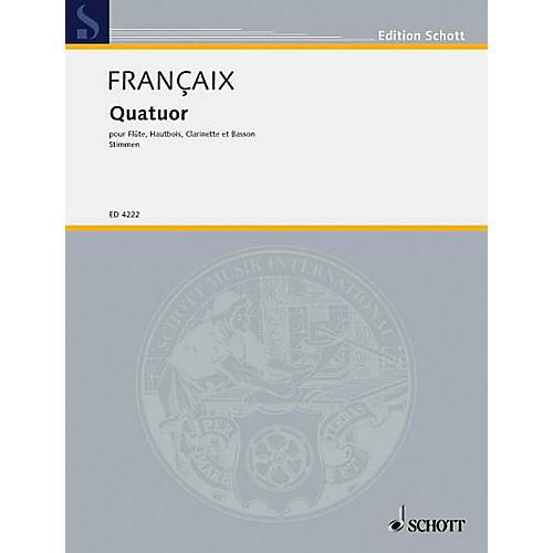 Schott Quartet (Set of Parts) Schott Series by Jean Françaix