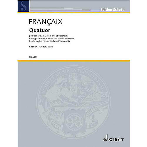 Schott Quartet (Study Score) Schott Series Composed by Jean Françaix