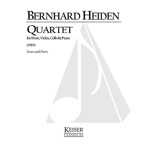 Lauren Keiser Music Publishing Quartet for Horn and Piano Trio LKM Music Series Composed by Bernhard Heiden